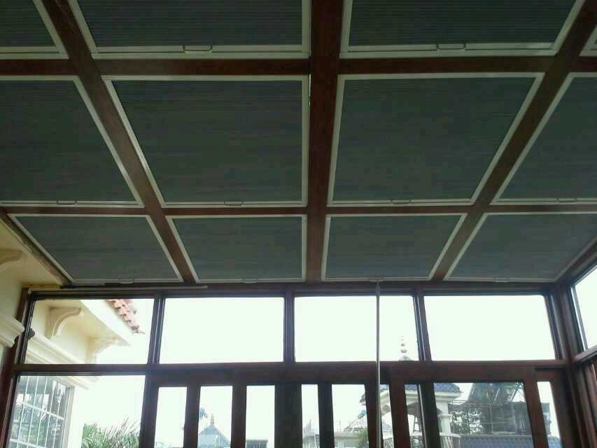 阳光房顶棚遮光隔热窗帘