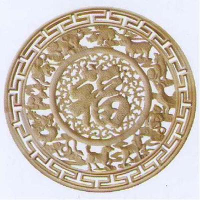 敏军木制品木雕圆盘g215系列木雕圆盘