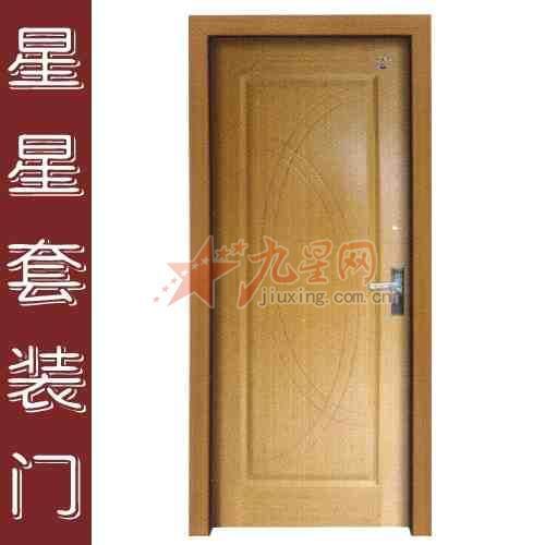 白边框棕色门效果图