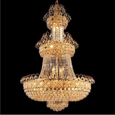 现代欧式豪华水晶灯吊灯客厅工程吊灯铁艺灯饰灯具b