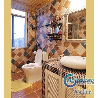 仿古砖 地中海田园风格五彩岩砖 欧式厨卫砖