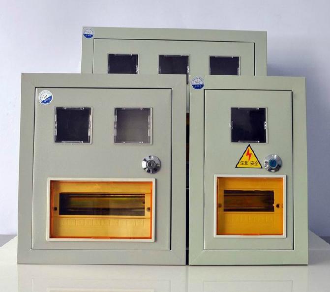 地龙 单相铁电表箱 强电箱 配电箱 pz40-2 暗装二表带锁10回路