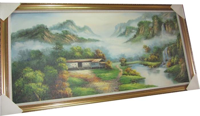 潘氏字画 油画 欧式风格 风景画