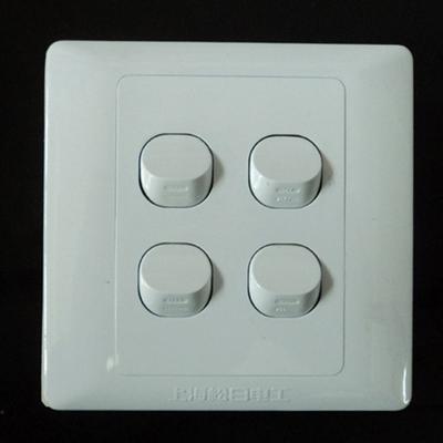 上海松日开关插座面板 小板四开双控开关