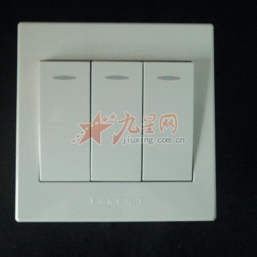 上海松日开关插座 纯平系列大三开单控