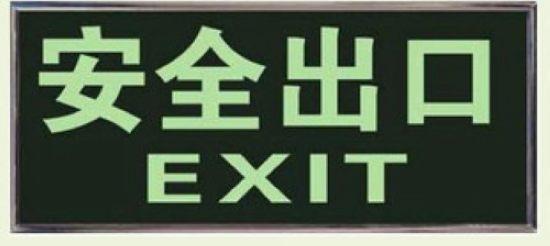 自发光安全出口 消防应急标志灯