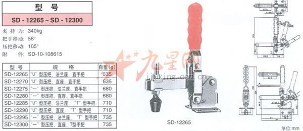 sd-12265《斯佩德》快速夹具|快速夹钳|夹具|夹钳