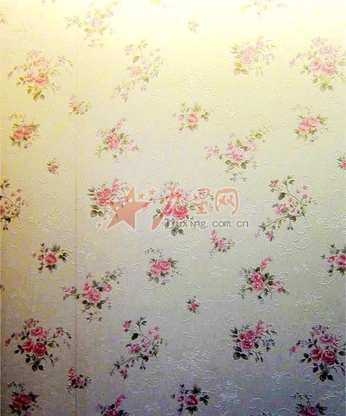欧式小碎花壁纸贴图