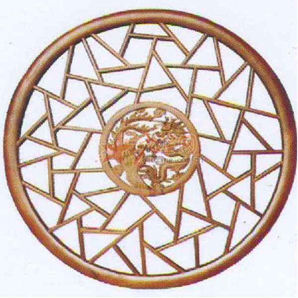 东阳 木雕  挂件  灯盘 仿古工艺品  挂件 格子圆窗 吊顶 花格   木雕