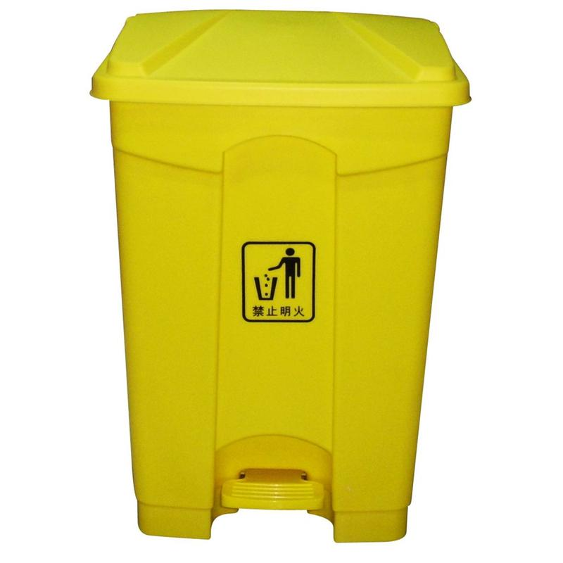 87l脚踏式垃圾桶/翻盖桶/塑料垃圾桶/清洁桶