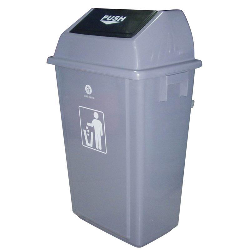 a050 60l斜盖垃圾桶/翻盖桶/塑料垃圾桶/清洁桶/储