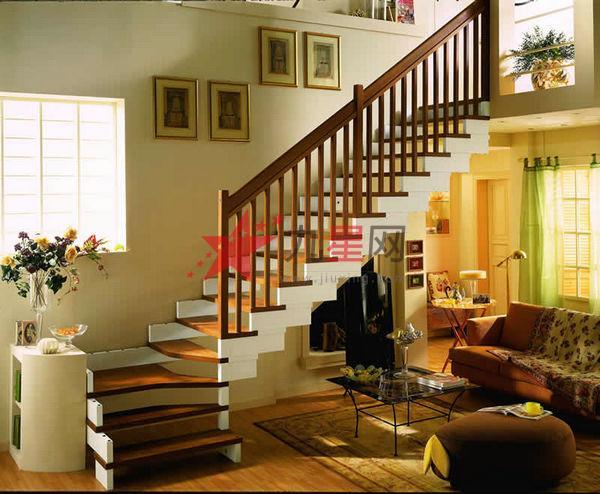 别墅旋转楼梯隔断效果图