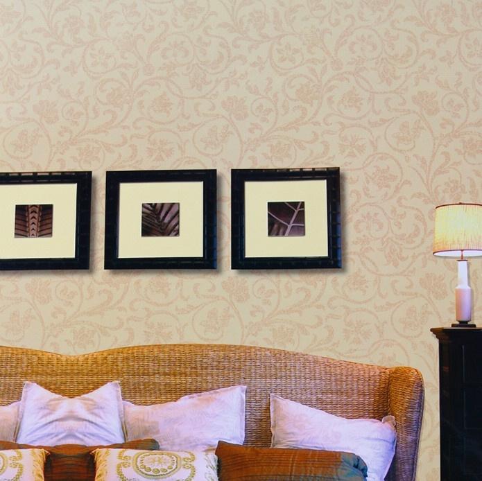 昌威壁纸 欧式简约 莨苕叶暗花压花 卧室客厅高档酒店