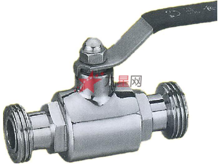 名称:益铭快装外螺纹直通球阀 型号:ym-16 材质:304不锈钢 连接形式图片