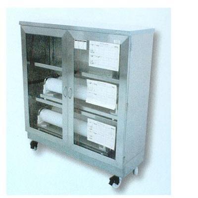 置物架不锈钢柜子3层带滑轮