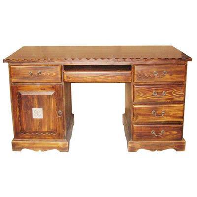 实木碳化木办公桌,书桌,电脑桌