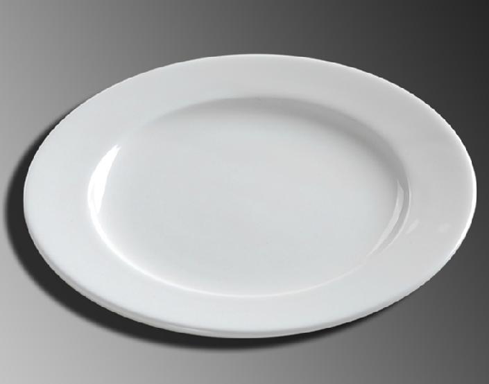 陶瓷西餐盘牛排冷菜热菜异型盘子白胎酒店餐具碟碗
