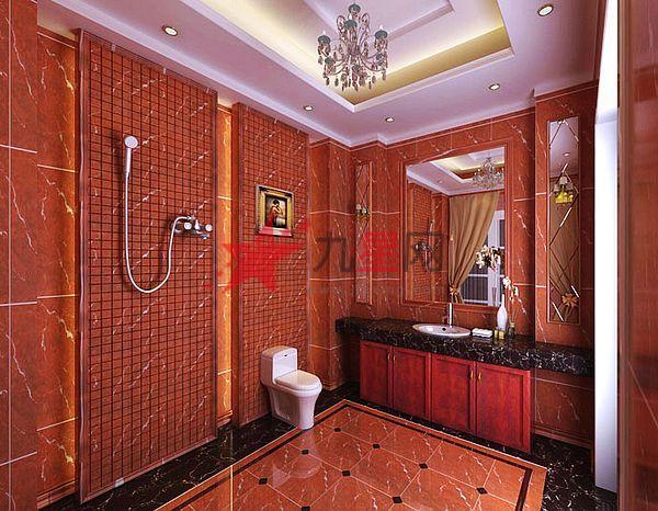 欧式红色瓷砖贴图