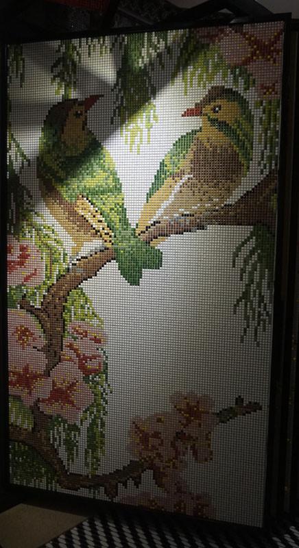 马赛克拼花 客厅 电视 背景墙 欧式马赛克拼图