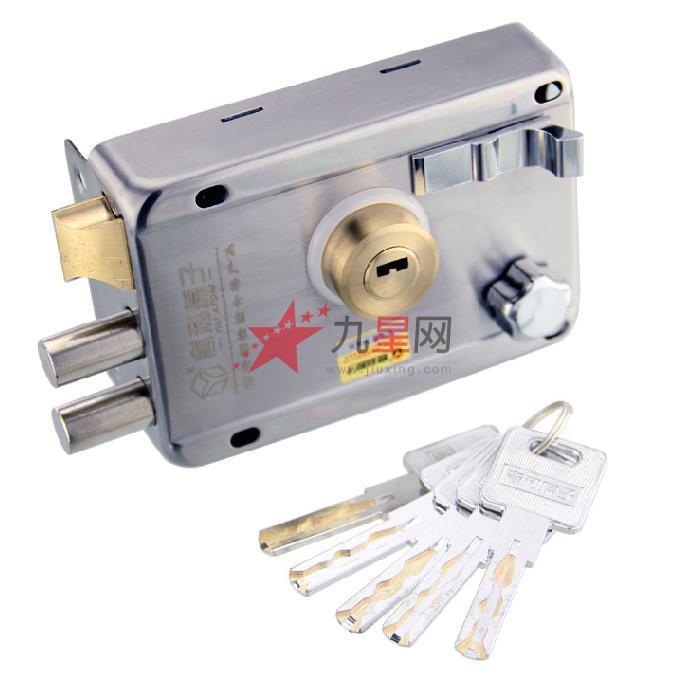意利老式防盗门锁老式门锁超b级锁芯外装门锁铁门锁