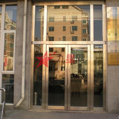 玻璃大门不锈钢包边jtty-30