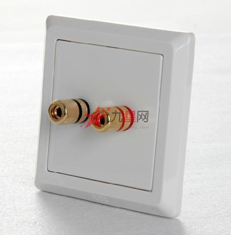 abb开关插座面板正品equip德逸系列音频接线二端子ae