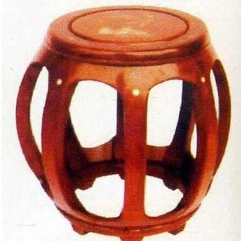 木雕实木博古圆凳ble-26