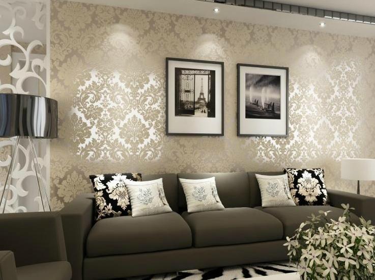 剑皇墙纸 欧式大马士革客厅壁纸