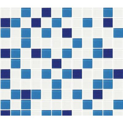 马赛克 深蓝 浅蓝 白色拼接