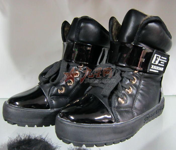 鑫铭皮鞋 黑色儿童保暖靴