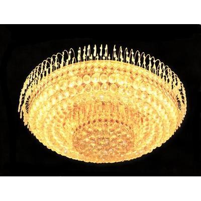 金色圆形客厅灯具led水晶灯饰