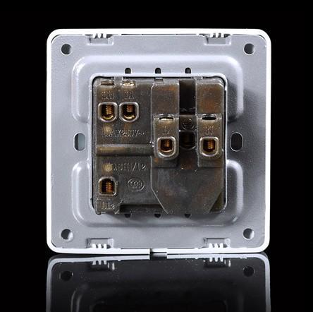 起帆西蒙开关插座面板 一开二三极插座 n70-010