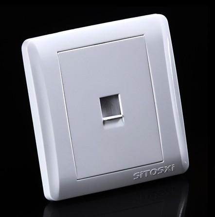 起帆西蒙开关插座面板 一位电话插座 n70-015