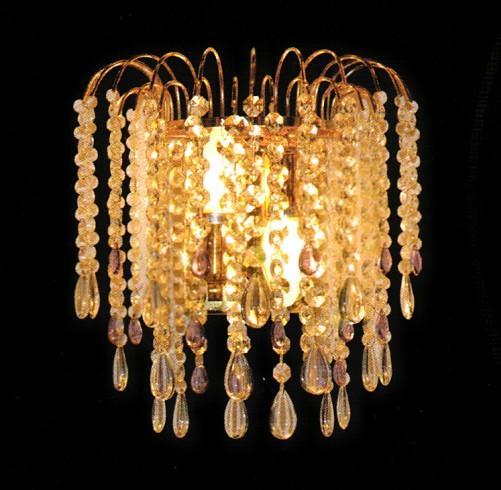 欧式简约金色水晶灯