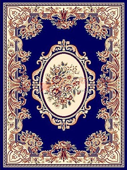 欧式蓝色大花布料贴图