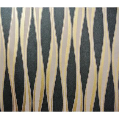 簡約曲線條紋壁紙-客廳臥室沙發電視墻背景墻無紡布