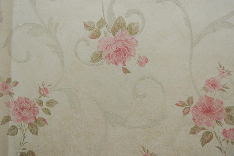 田园精品花卉植物墙纸欧式精品卧室客厅壁纸2