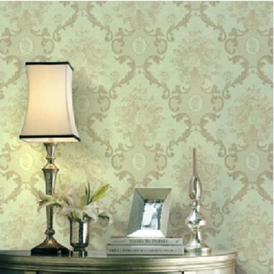 欧式大马士革墙纸 客厅电视墙背景墙壁纸