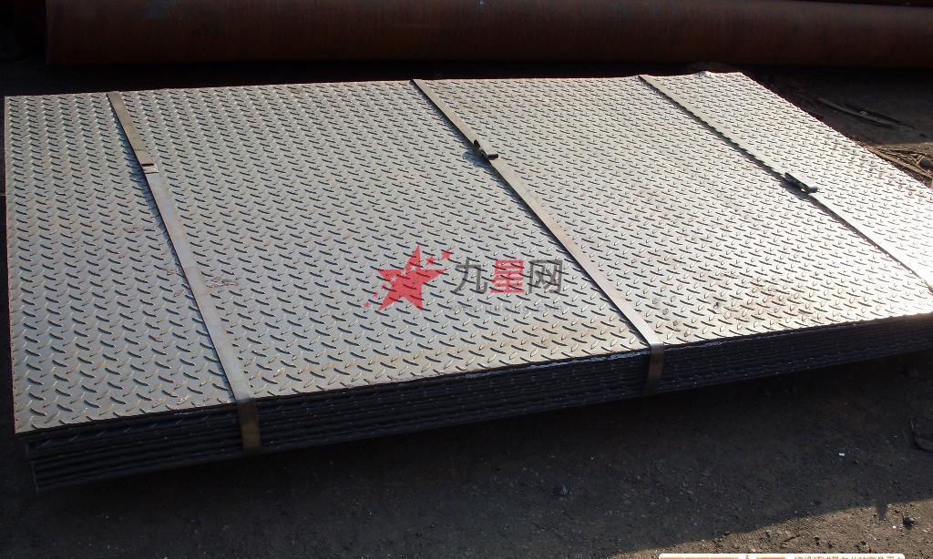 花纹钢板 可加工踏步花纹钢板楼梯板