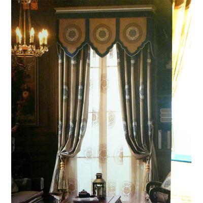 中式明清古典刺绣窗帘