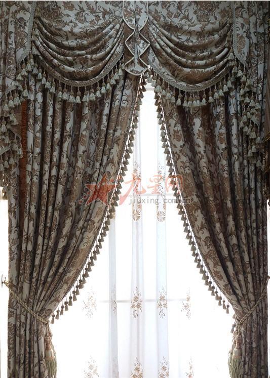 叶佳布艺 卧室客厅 欧式窗帘