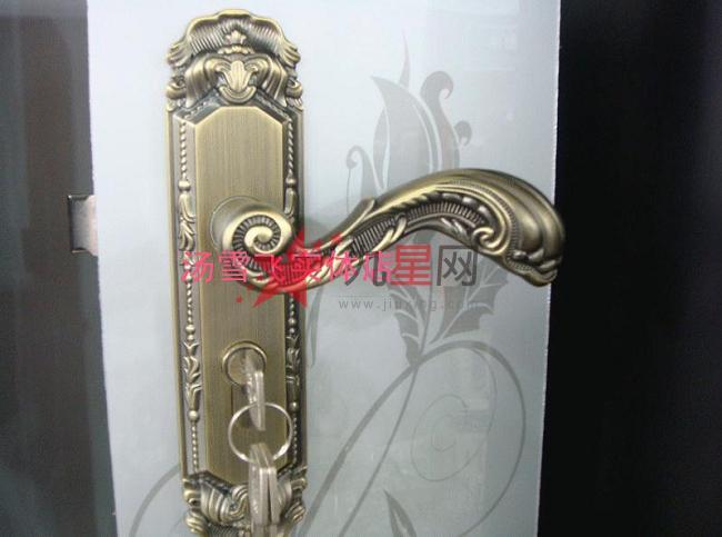 铂仕青古铜色欧式/田园/古典/仿古家用室内房门锁