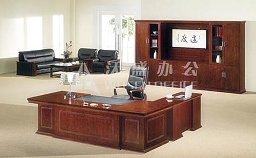 沃盛办公家具 大班桌 胡桃木色 h98281a