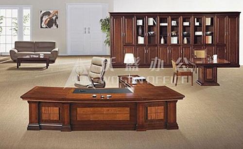 沃盛办公家具 大班桌 胡桃木色 h81363