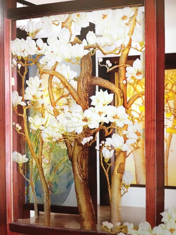 背景墙 中式背景 > 晶威玉来香艺术玻璃隔断 屏风玄关 背景墙