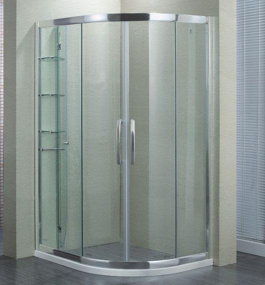 淋浴房系列 半圆形/扇形淋浴房 > 广东中山玛莎防爆淋浴房/扇形推拉门