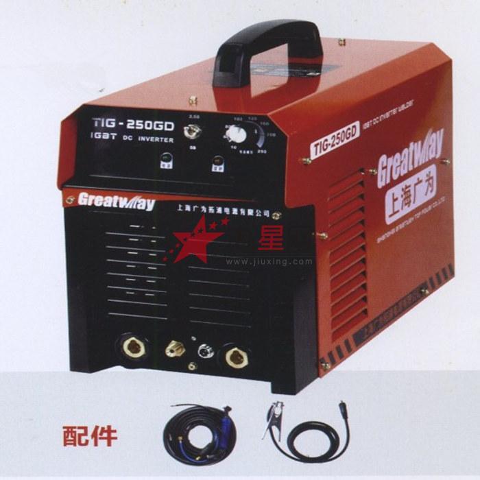 焊机 焊接就是为焊接提供一定特性的电源的电器,焊接由于灵活简单方便牢固可靠,焊接后甚至与母材同等强度的优点广乏用于各个工业领域,如航空航天,船舶,汽车,容器等。 电焊机(electric welding machine)实际上就是具有下降外特性的变压器,将220V和380V交流电变为低压的直流电,电焊机一般按输出电源种类可分为两种,一种是交流电源的;一种是直流电的。直流的电焊机可以说也是一个大功率的整流器,分正负极,交流电输入时,经变压器变压后,再由整流器整流 ,然后输出具有下降外特性的电源,输出端在接通