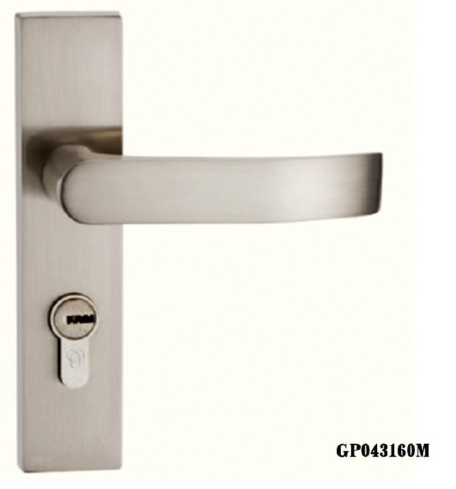 天宇纯铜锁芯锌合金简约现代欧式室内把手房门锁具