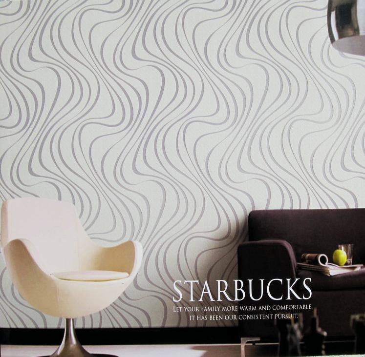 欣宇墙纸 壁纸 高档麂皮绒立体植绒墙纸 深灰色浅灰色波浪纹墙纸