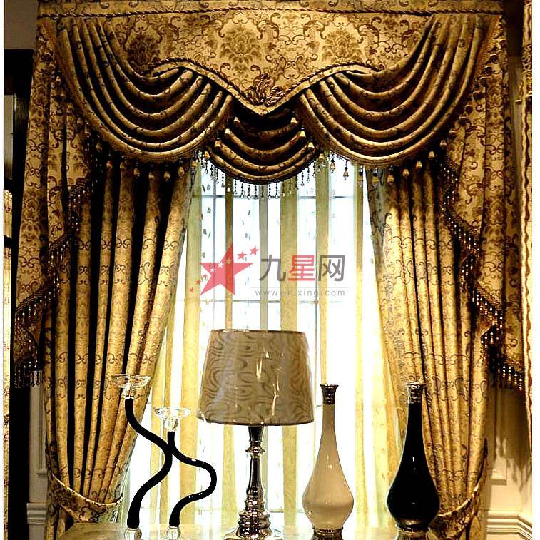欧法式高档客厅卧室浮雕玫瑰兰花草窗帘英伦王朝布艺